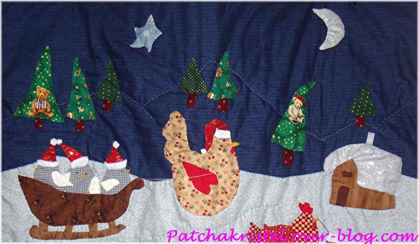 Poulettes de Noël - terminé - vue du top - zoom haut