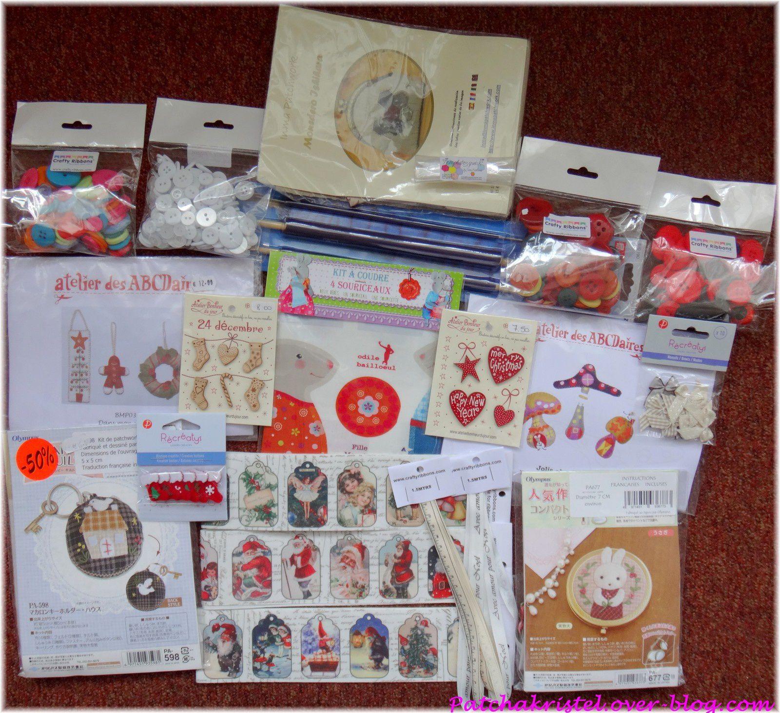 CSF - boutons, kits patchwork, kits feutrine, rubans british