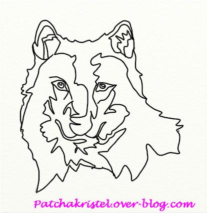 Tête de loup pour appliqué - calque