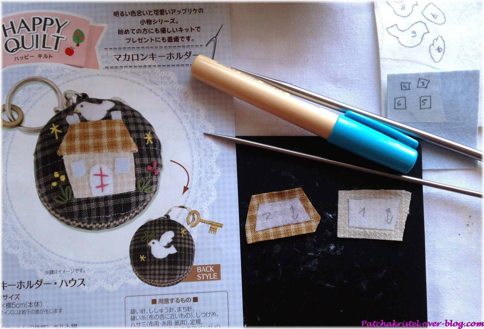Mini-macaron porte-clefs - préparation de l'appliqué avec apliquick !