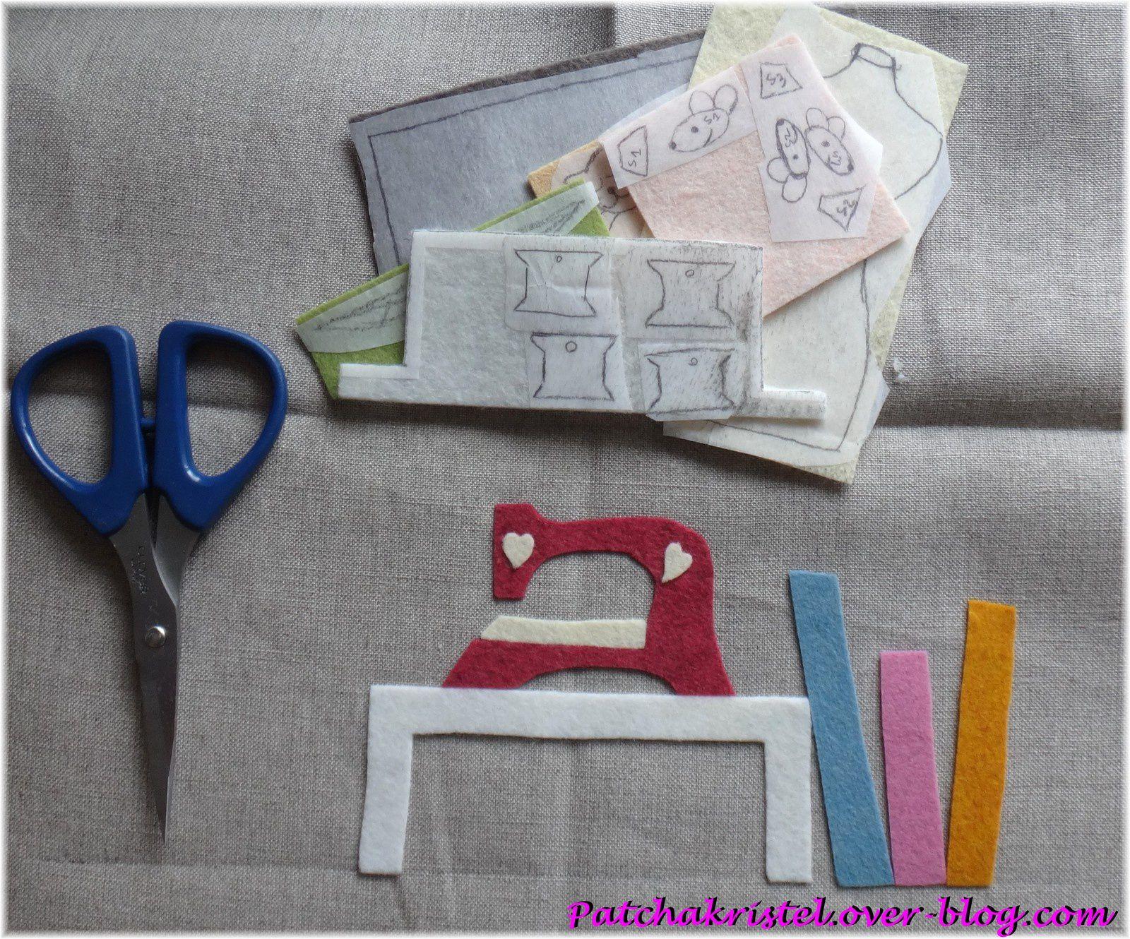L'Atelier d'Isabelle - Atelier couture en feutrine en cours de réalisation