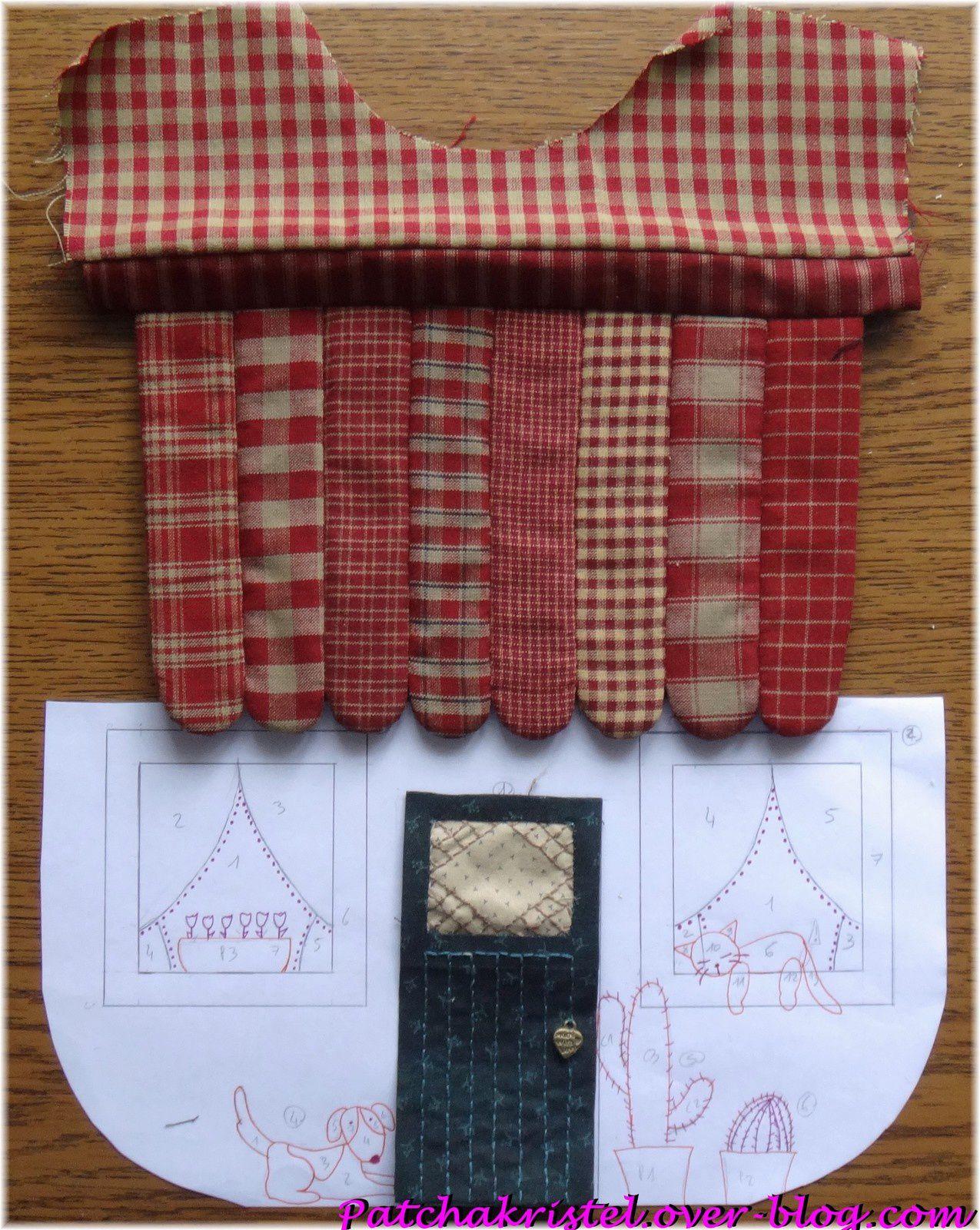 Quilt House - la casita de Carol by Patchakristel - maison sac patchwork applique - toit et porte