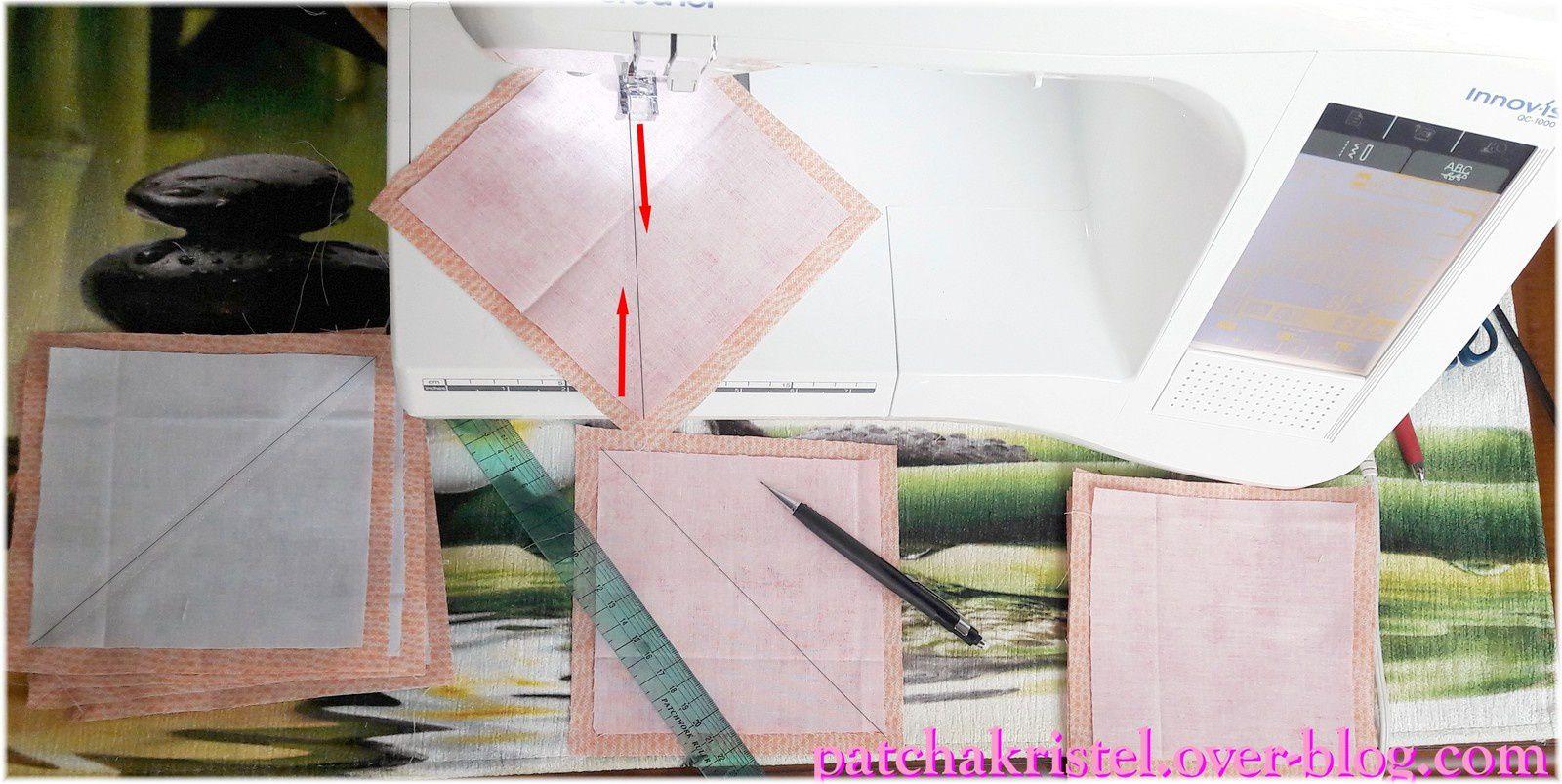Fil rouge - Ines Patchwork Partie 6
