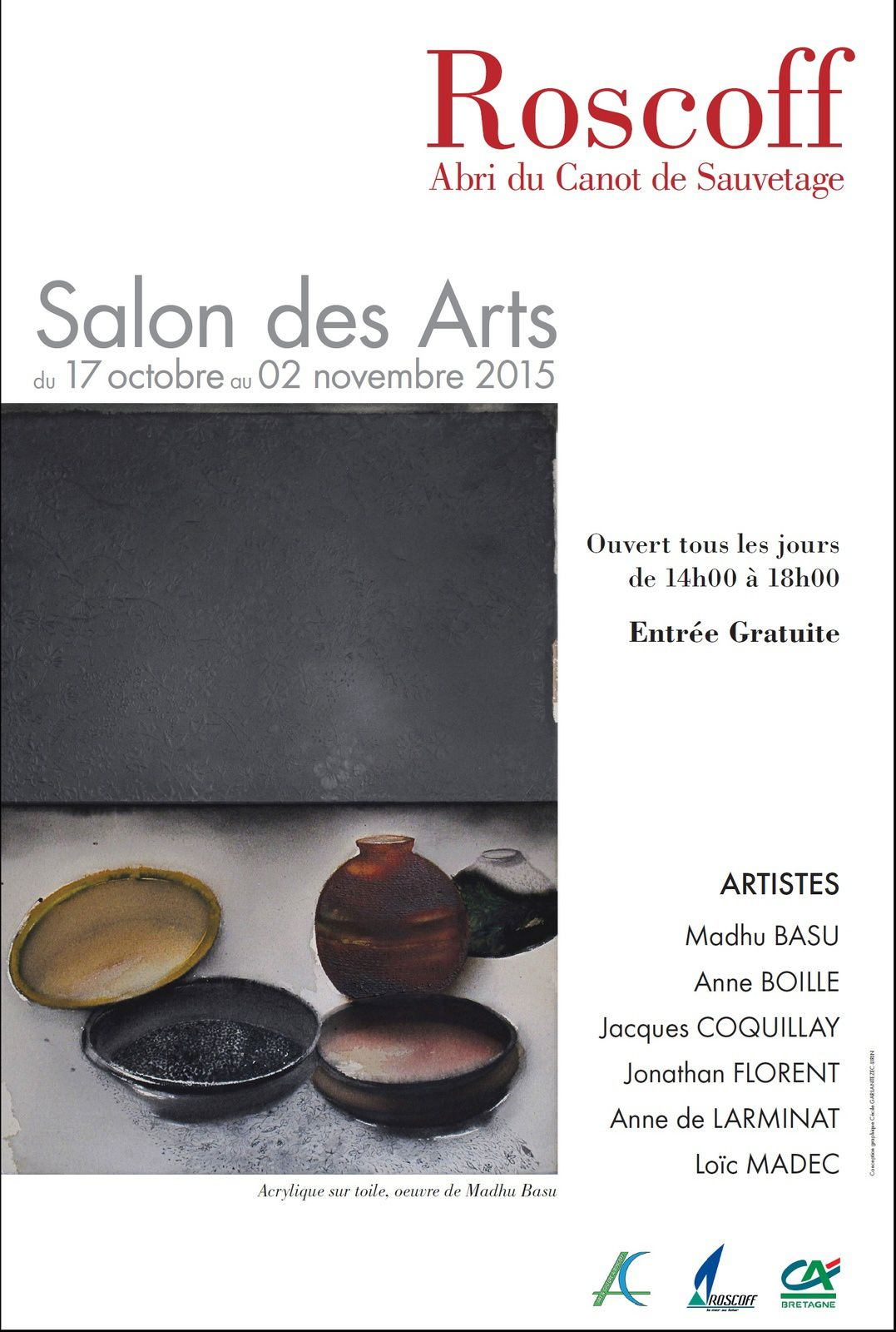 Du 17 octobre au 2 novembre : SALON DES ARTS 2015