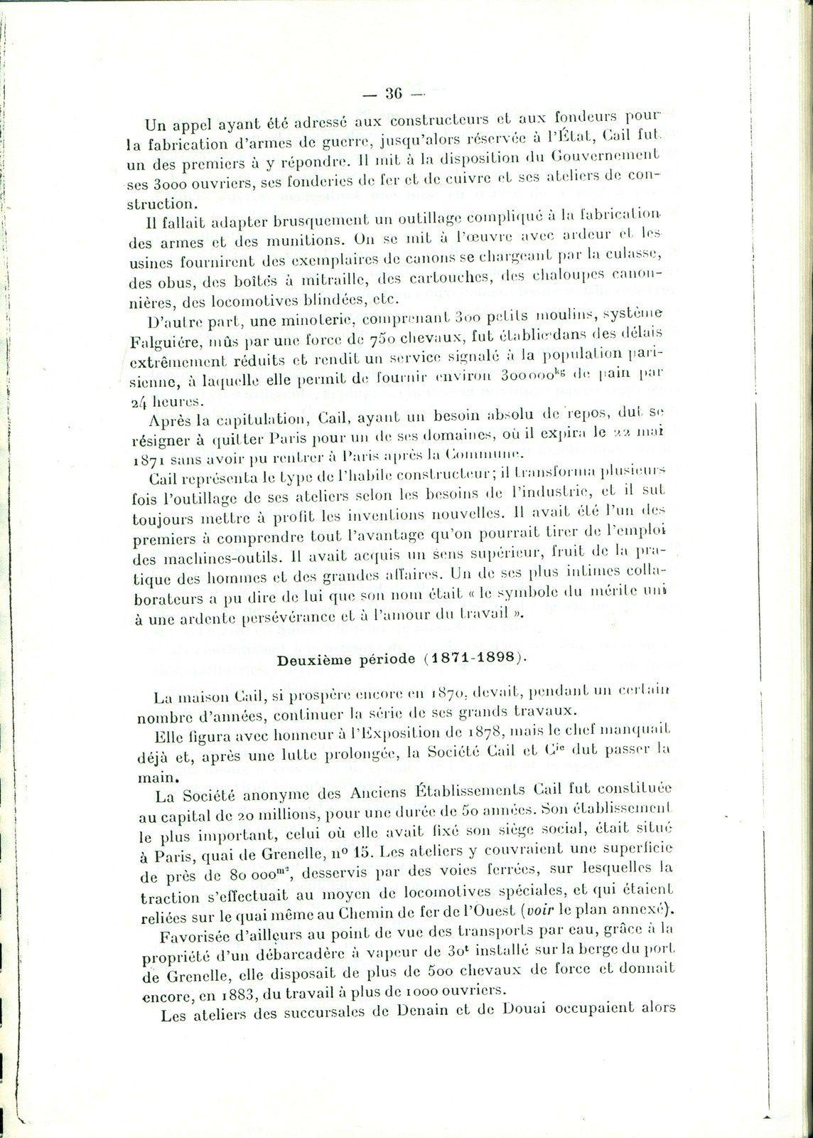 L e centenaire des Etablissements Cail de Denain