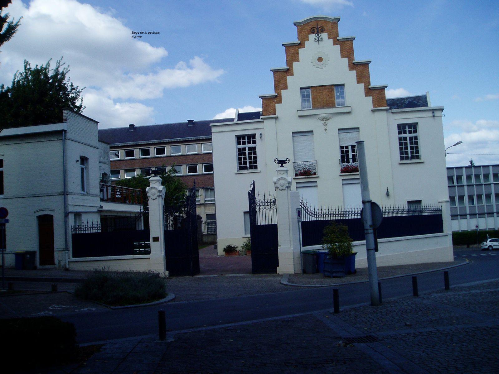 siege de la gestapo à Arras place de la préfecture, la gestapo d'Arras