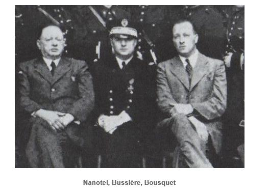 Les funérailles dans la presse., rené bousquet en compagnie d'officiers allemands