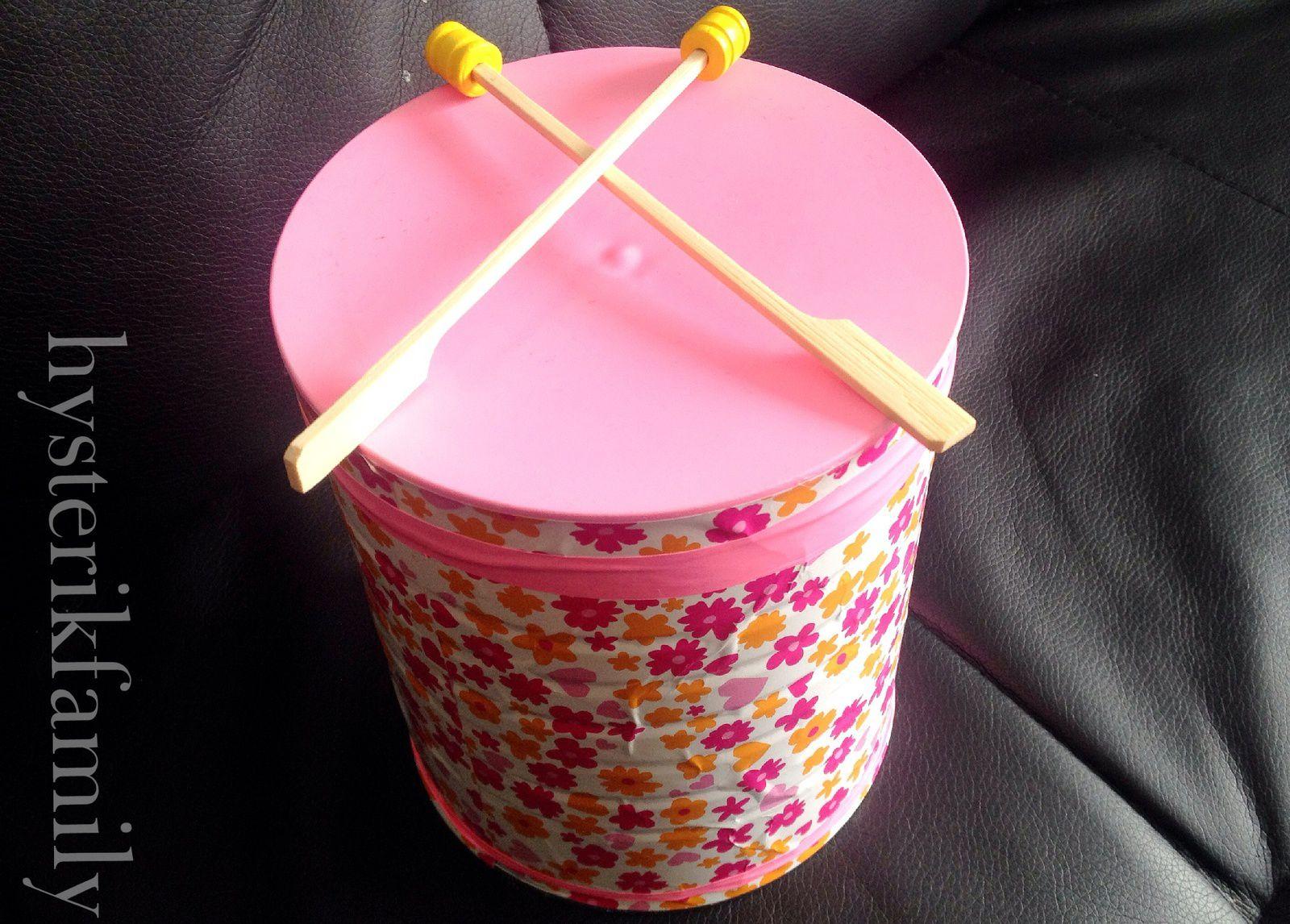 Jeux musicaux 1, le tambour [DIY]