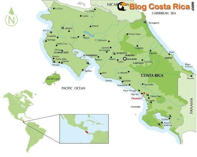 Costa Rica ©costa-rica-map-carte-information-blog