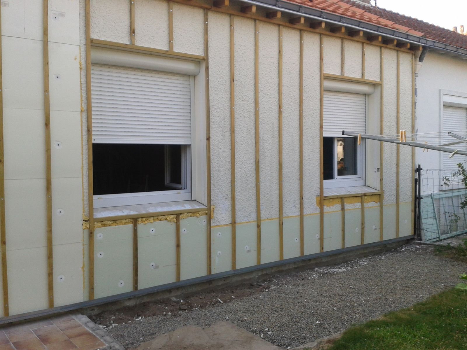 Bardage pvc sur isolation ext rieure ite r novation d for Renovation bardage bois exterieur