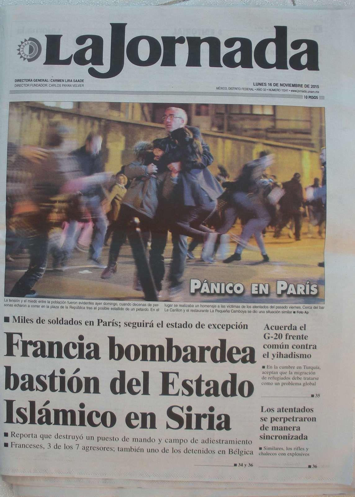 Les Mexicains très sensibles aux attentats terroristes de Paris