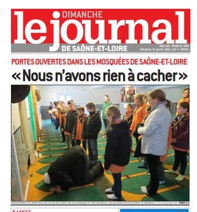 Après l'article sur l'islamisme radical salafiste à Autun, le JSL met heureusement en évidence les portes ouvertes des mosquées et les dangers de l'amalgame