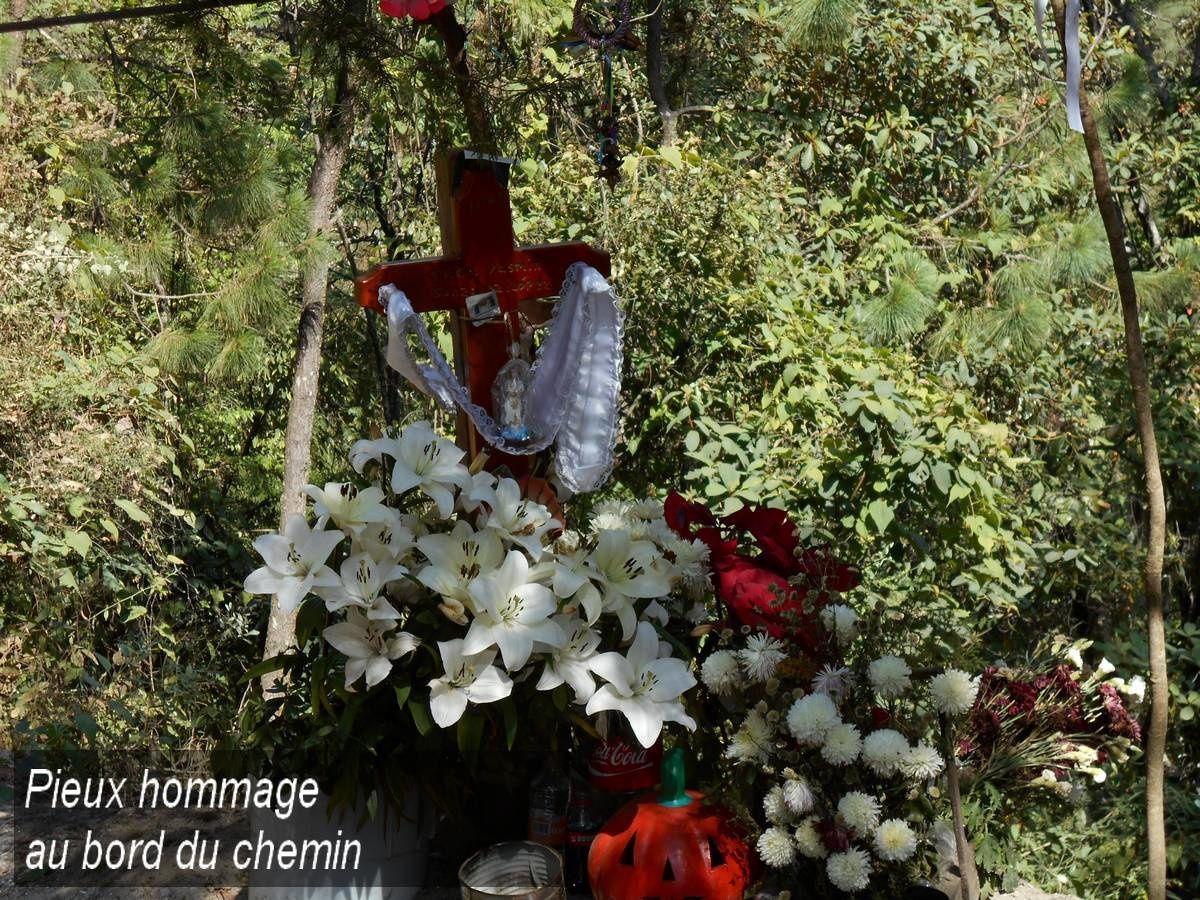 Du bord du chemin vers Tlatempa et Buenavista del Monte près de Cuernavaca