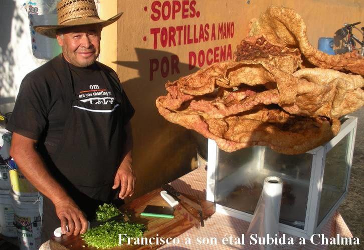 A Cuernavaca, chicharrón dans la rue, une tentation...