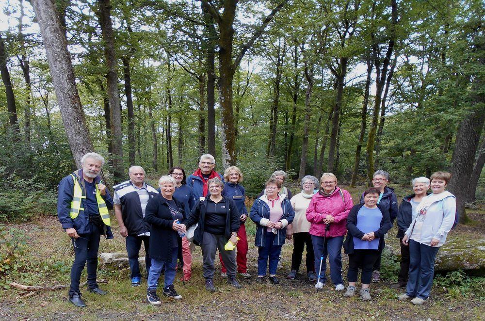 Randonnée  des retraités sportifs en forêt de Planoise