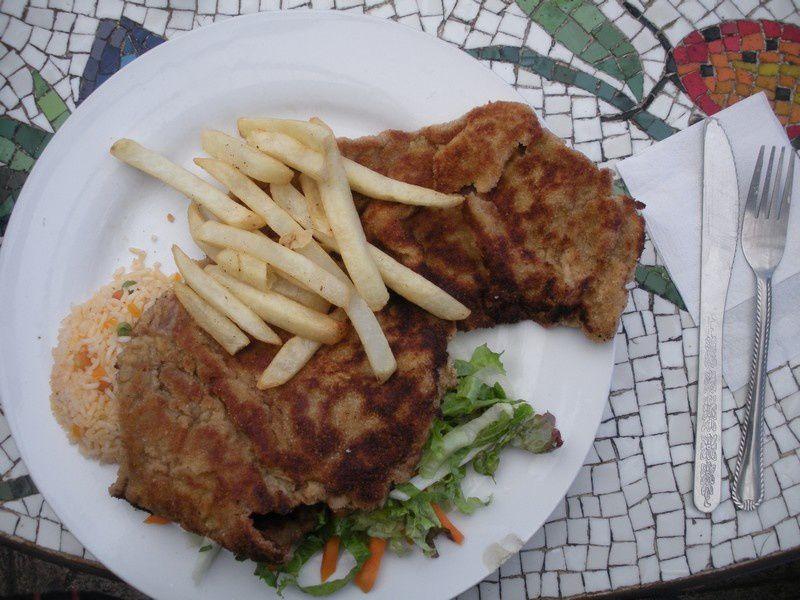 Un plat forcément éléphantesque (la photo ne montre pas que les escalopes sont repliées)