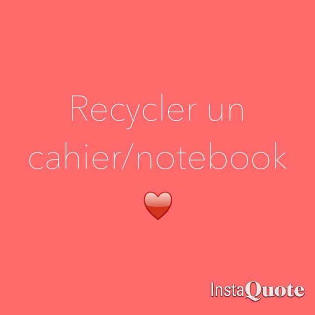 Relooker un cahier/agenda/notebook