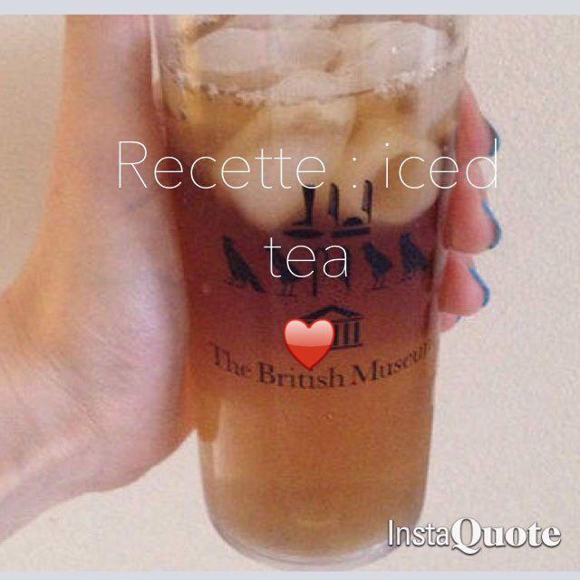 Recette : iced tea maison !