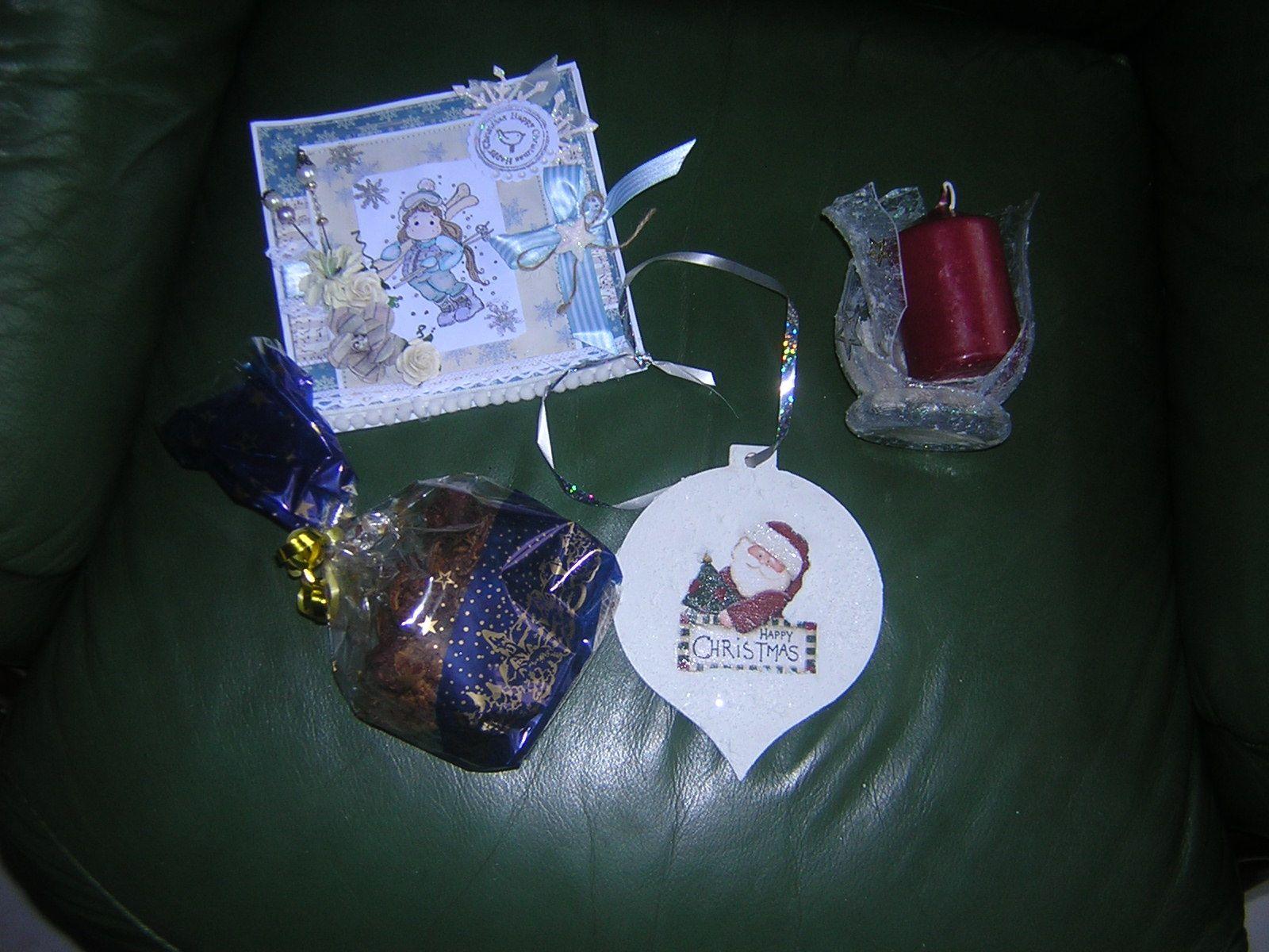 echange de noel chez Passion Shabby, une petite carte cadeau
