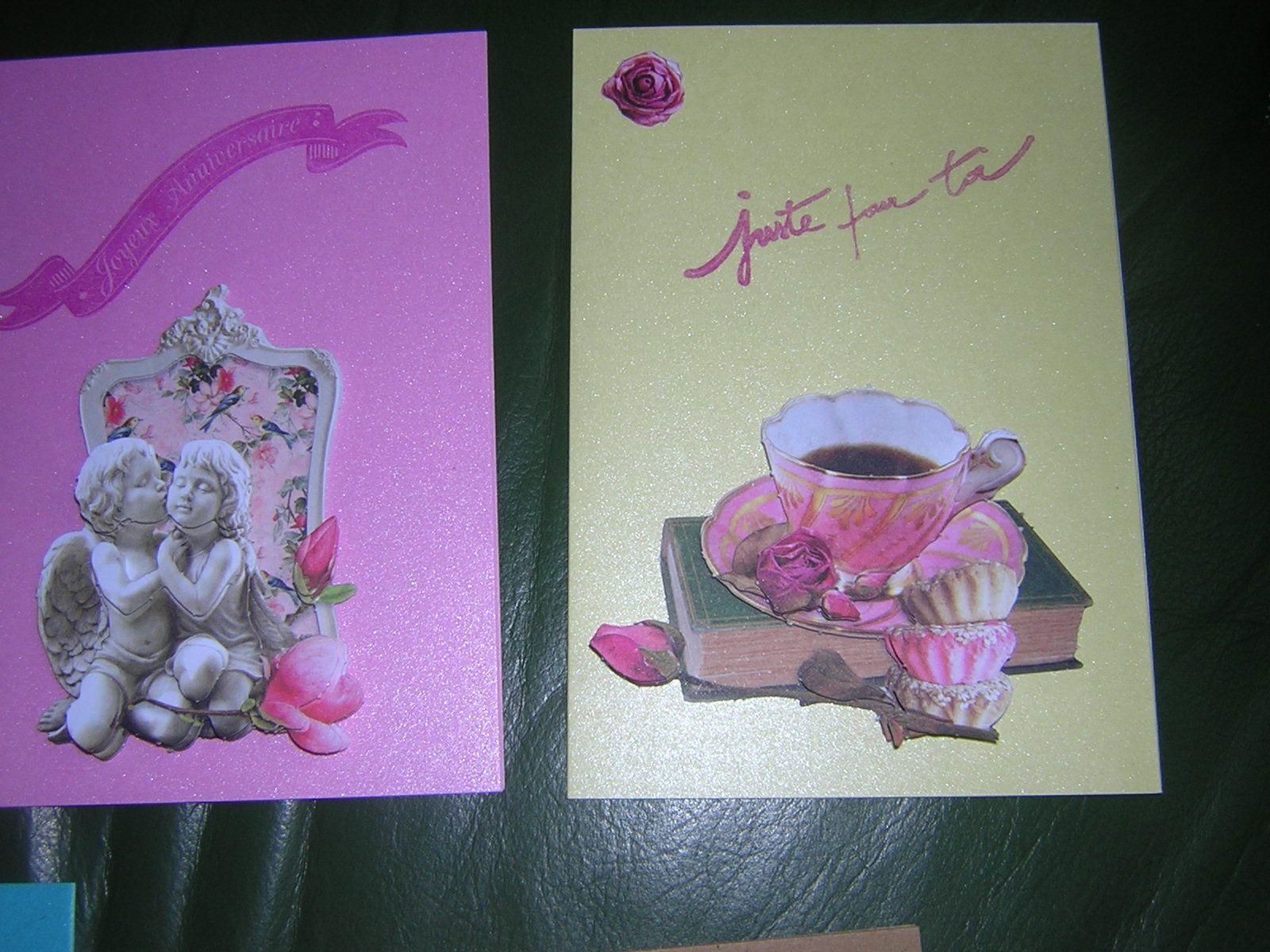 encore qq cartes, un anniversaire et  en 3D