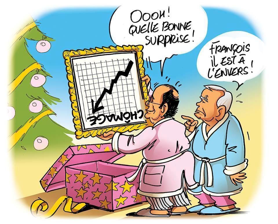 courbe chomage François Hollande