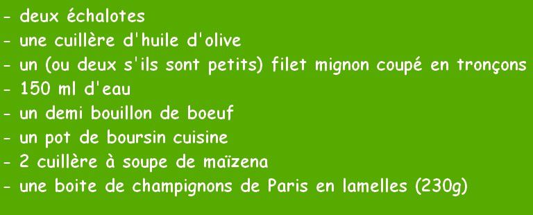 Filet mignon au boursin ail et fines herbes (companion)