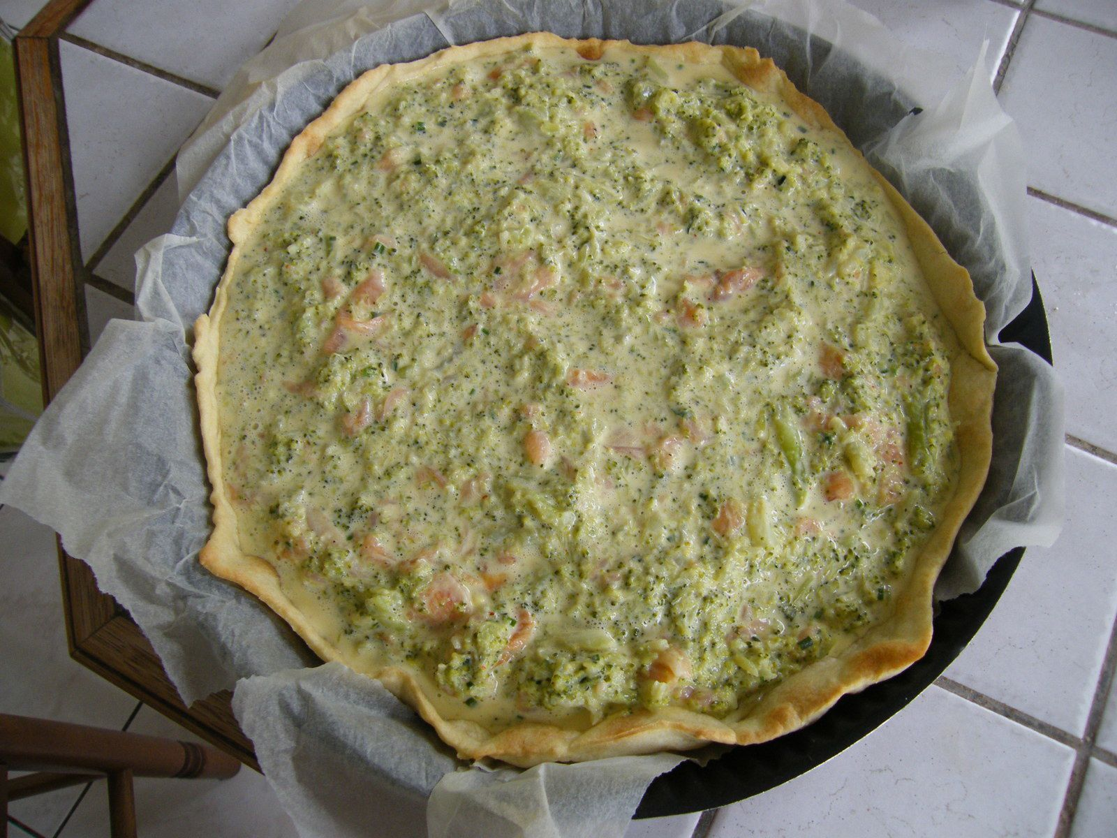Quiche saumon brocolis (companion)