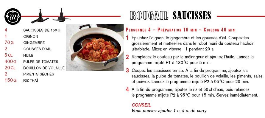 Rougail de saucisses au companion