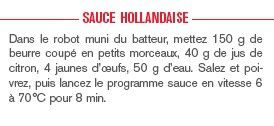 Sauce hollandaise au companion moulinex
