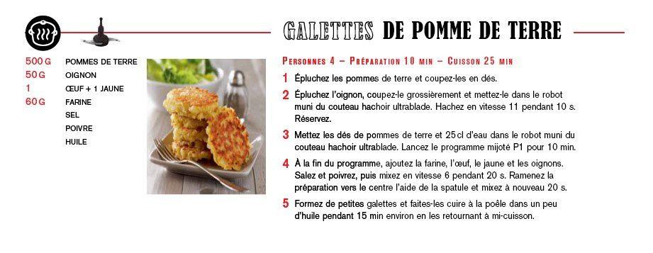 Recette de Rostis au companion moulinex (galette de pommes de terre)