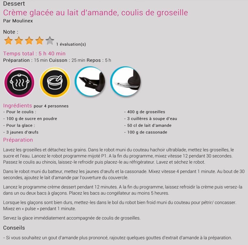 Nouvelles recettes companion moulinex (août 2015)