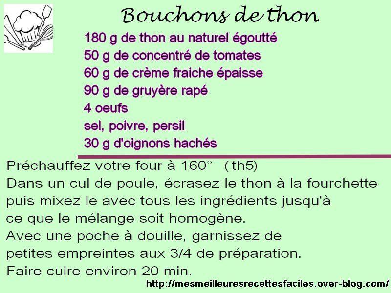 Recette des petits bouchons de thon