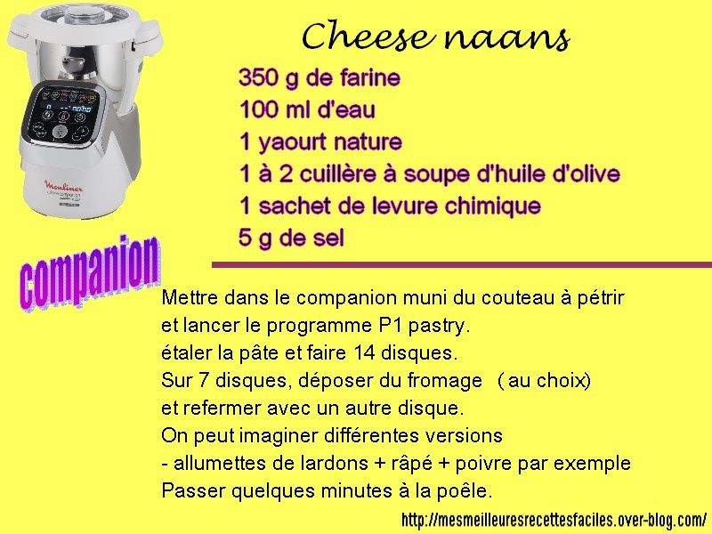 Cheese naans au companion