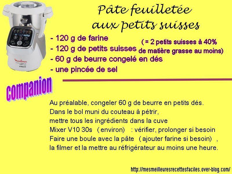 Recette pâte feuilletée rapide et légère (adaptée de thermomix)