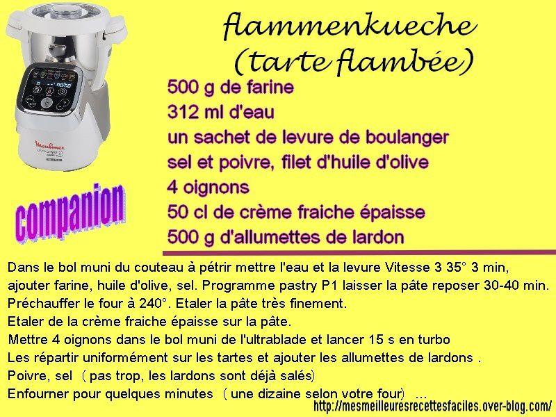 Flammenkueche (tarte flambée alsacienne) au companion (ou pas)