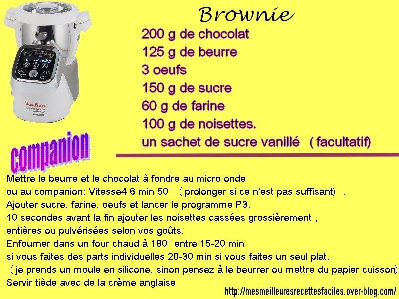 Brownie aux noisettes au companion (ou pas)