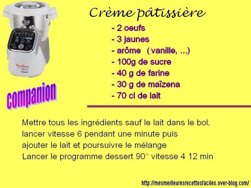 Recette de la crème pâtissière au companion