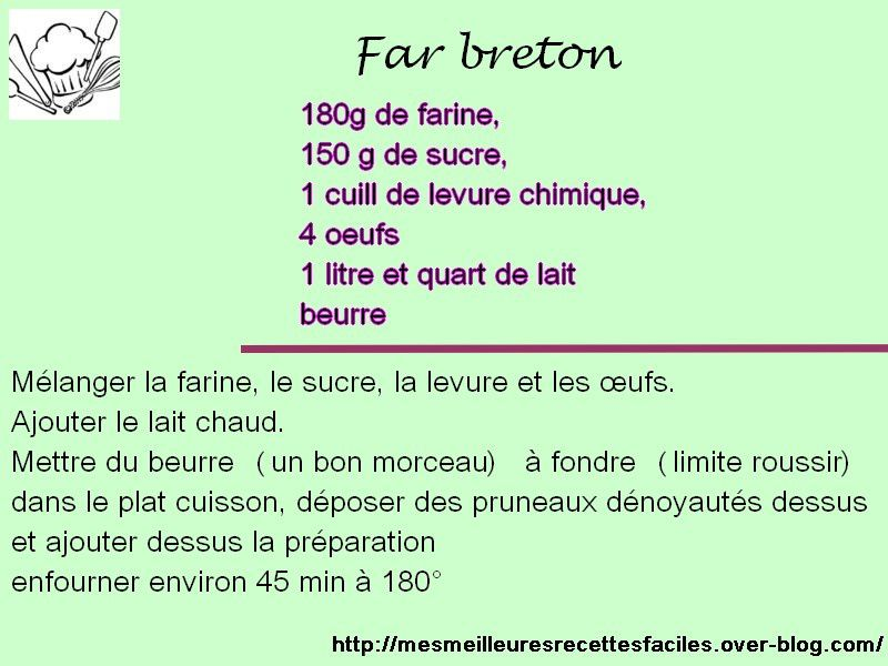 Recette de far breton (recette Anita)