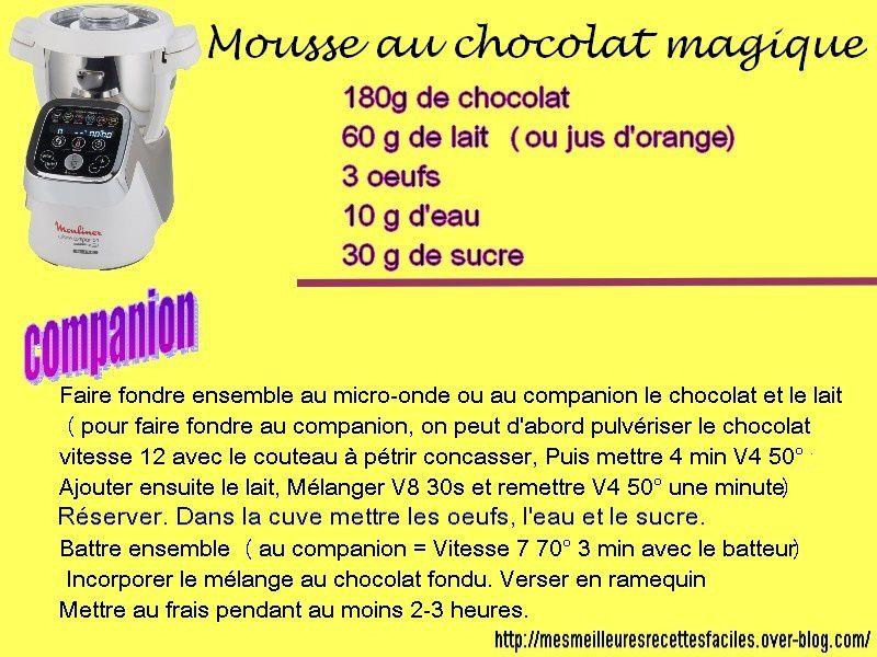 Mousse au chocolat magique (au companion... ou pas)