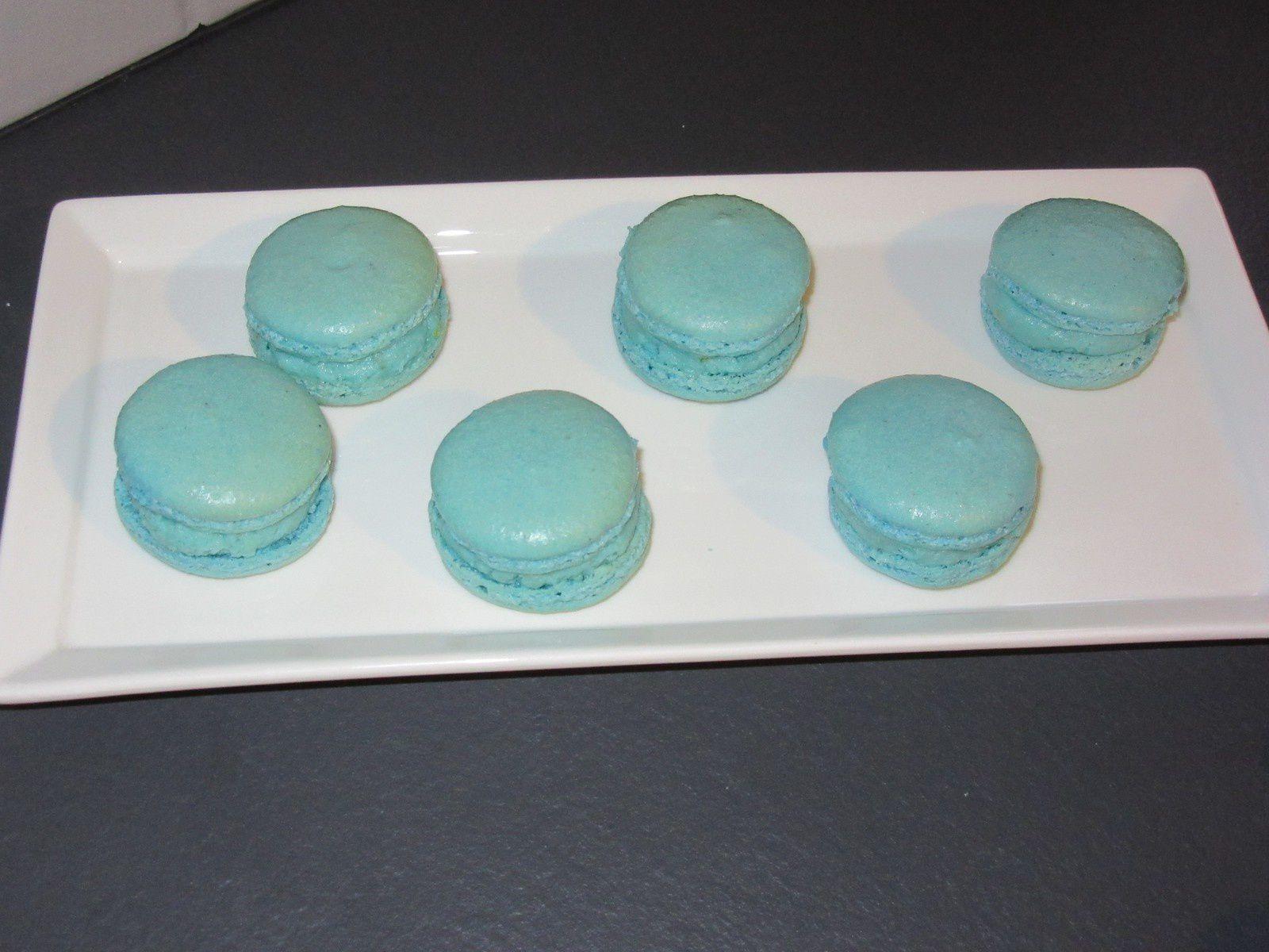 Ganache citron vert, basilic, chocolat blanc pour les macarons de Felder