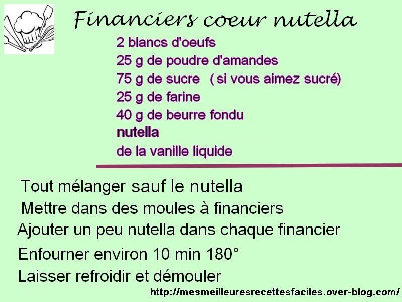 Financiers coeur nutella au companion ou pas