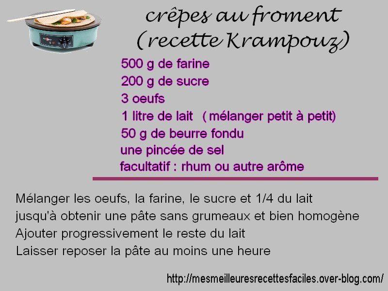 Recette de crêpes de froment pour krampouz