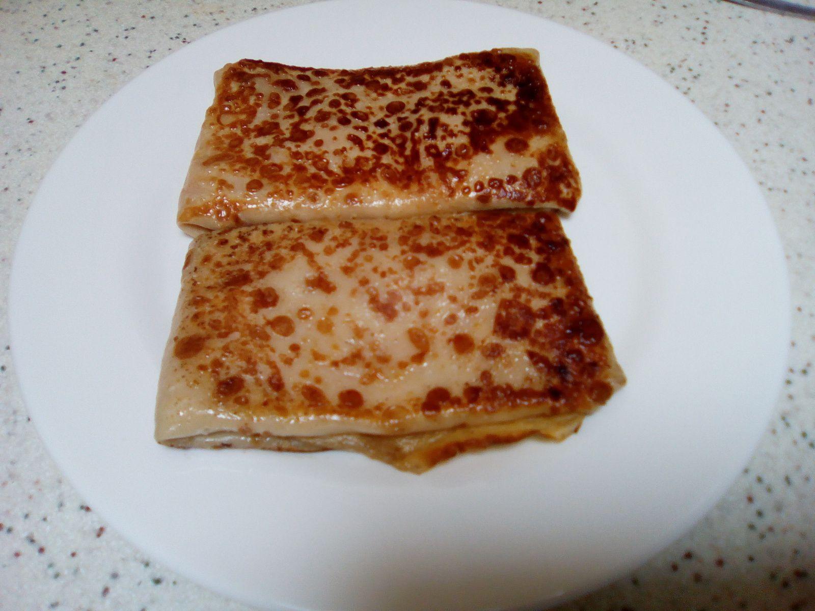 Recette de crêpes au jambon et au fromage