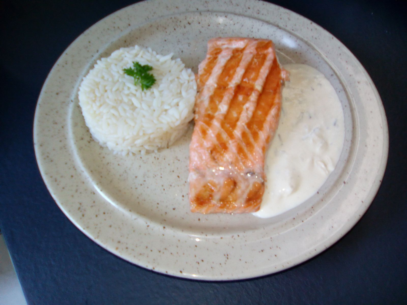 Pavé de saumon grillé à l'optigrill téfal