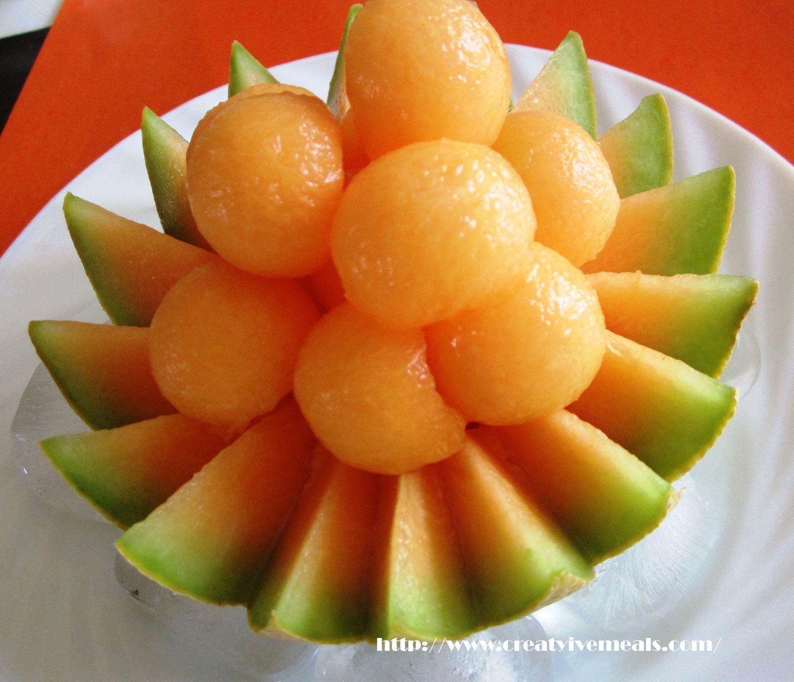 Suggestions de présentation pour le melon