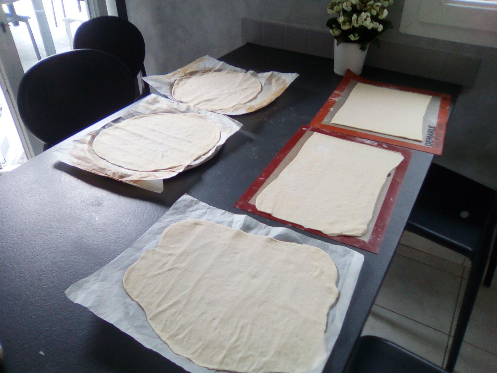 600 g de farine pour faire 5 pizzas à pâte fine...