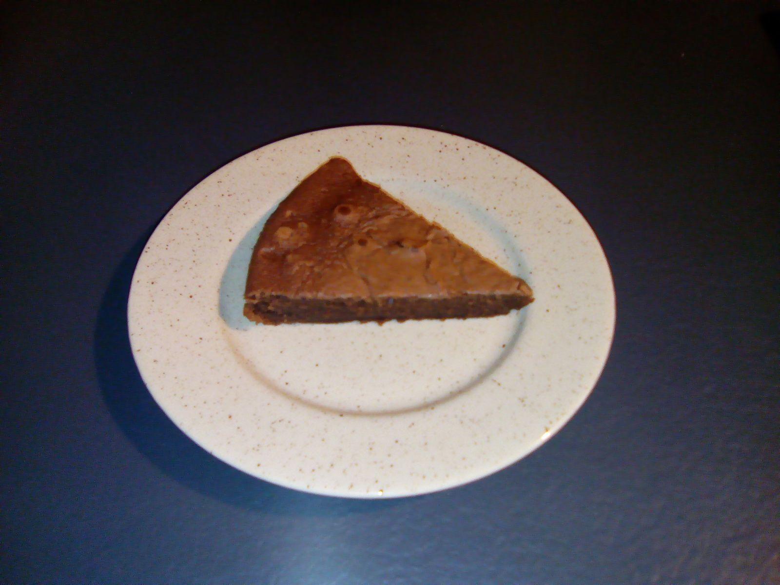 Gâteau light au chocolat sans beurre (remplacé par compote de pommes)