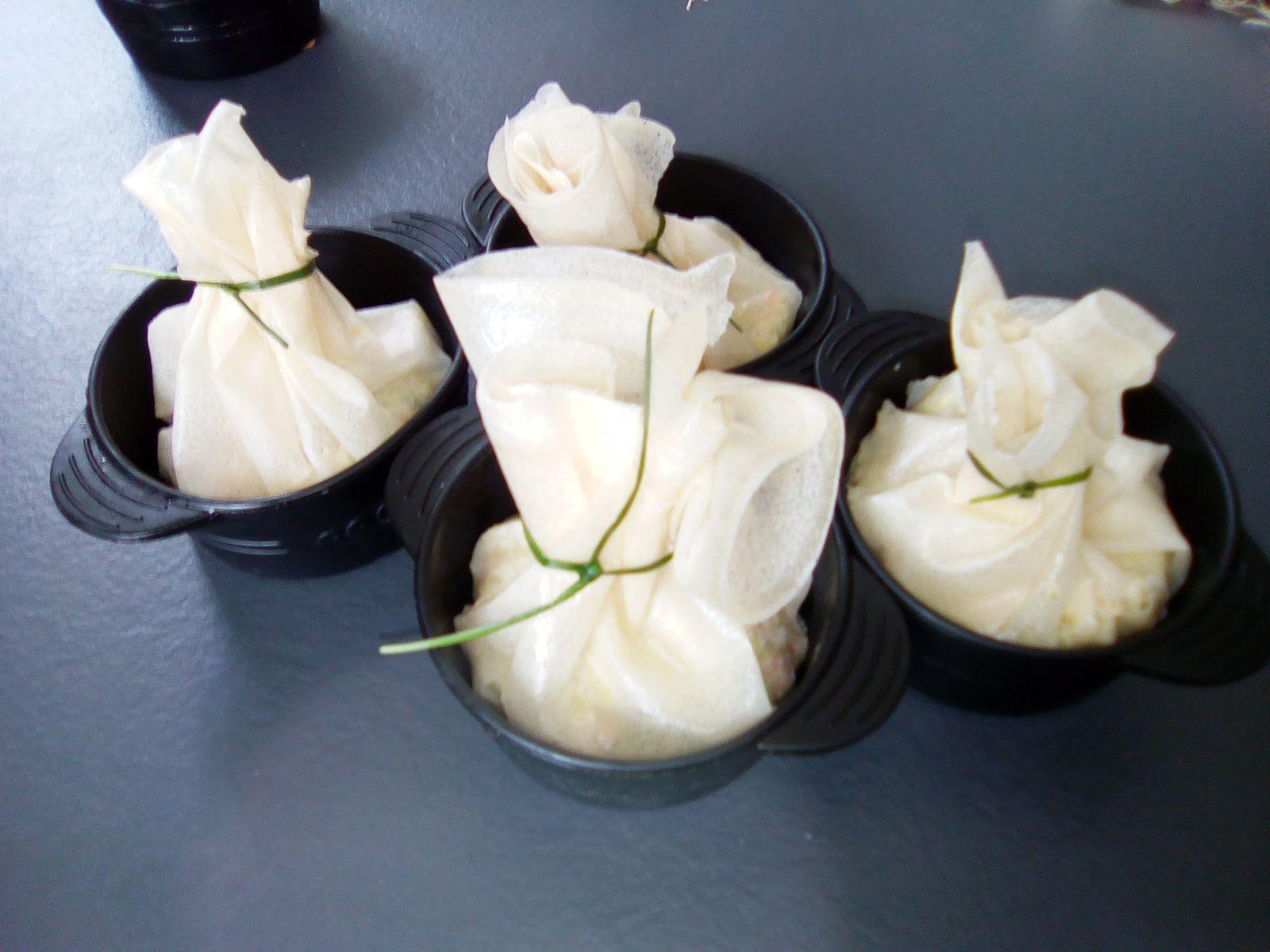 Aumonières saumon fumé et fondue de poireaux (au companion ou pas)