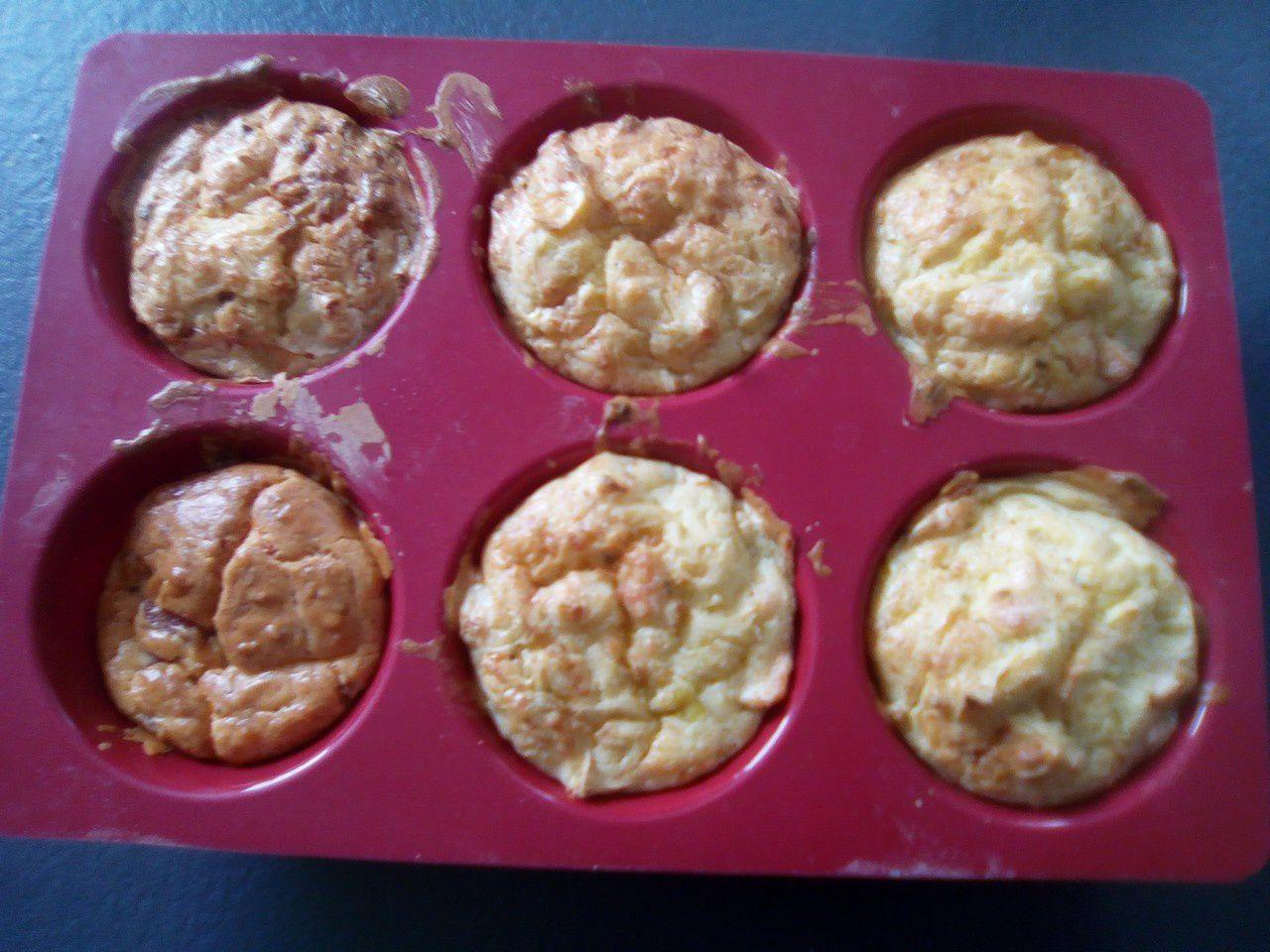 Muffins saumon et poireaux