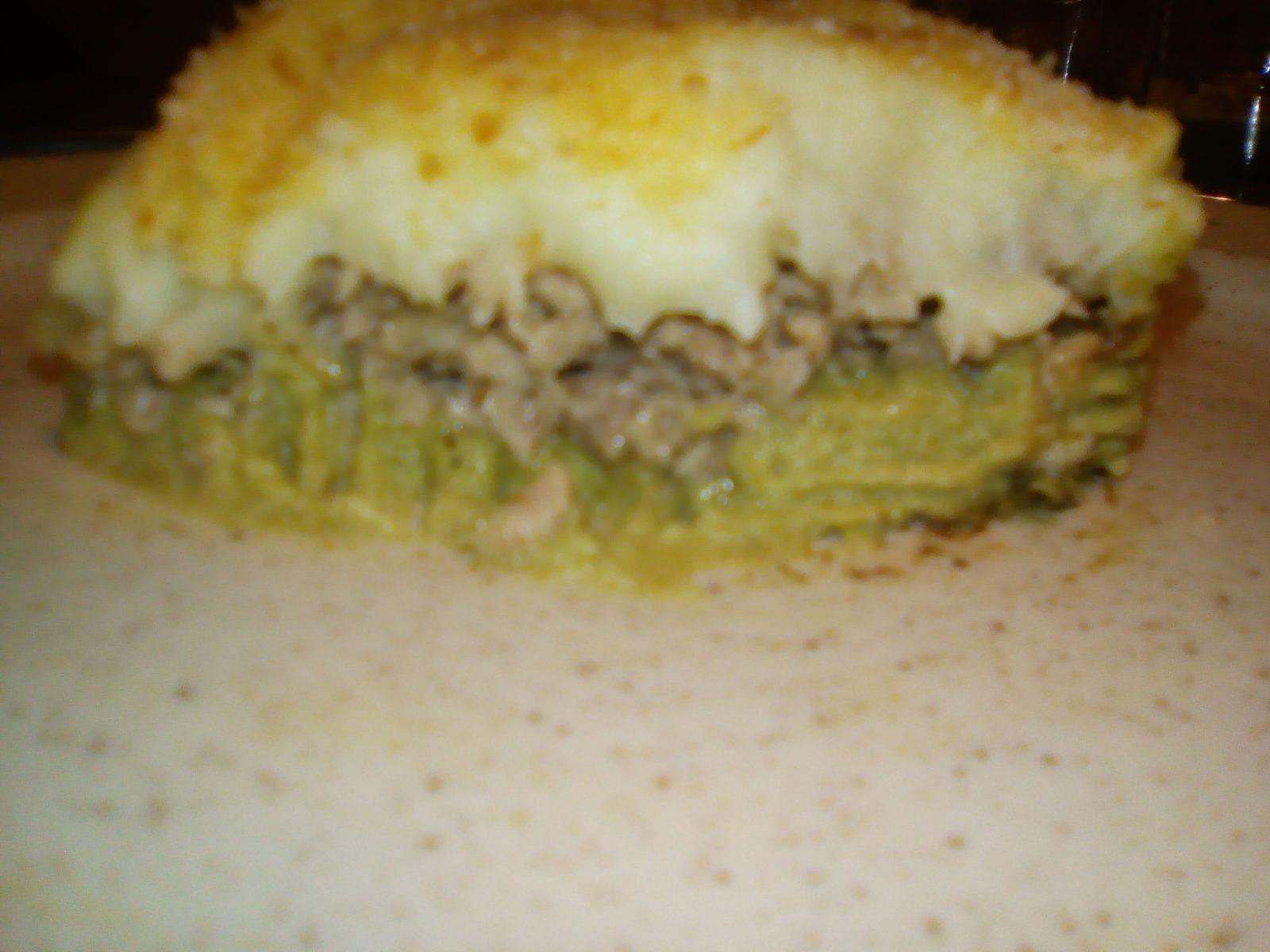 Hachis parmentier bicolore: vert et blanc (aux brocolis), au companion ou pas